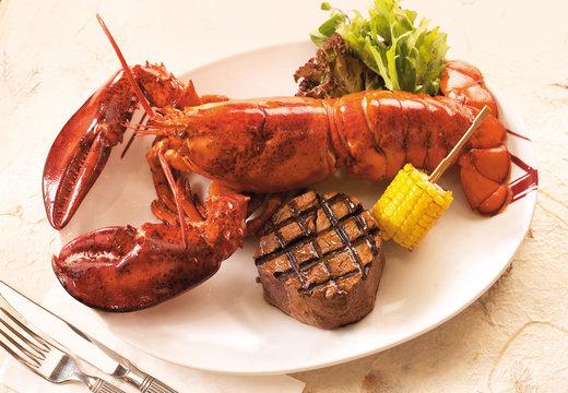 Lobster and steak set