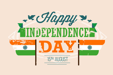 vector India independence Day illustration