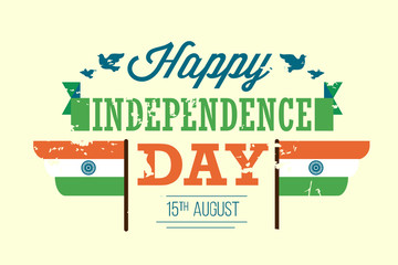 vector happy India independence day illustration