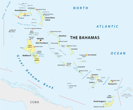 Map of The Commonwealth of The Bahamas