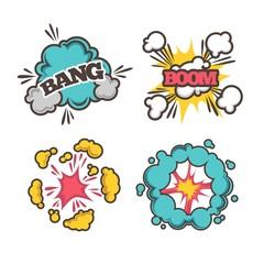 Bang and boom signs