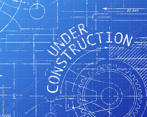 Under construction blueprint machine stock image and royalty free under construction blueprint machine malvernweather Images