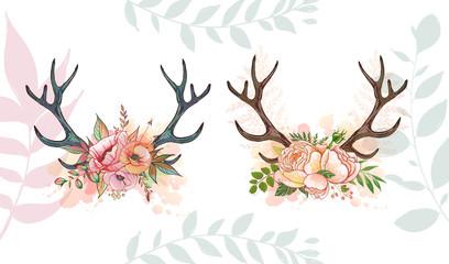 summer romace deer Wall mural