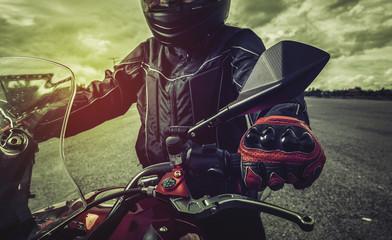 Life biker On the way,big bike.