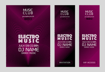 Template for poster design or electronic music banners. Vector