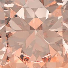 3D illustration gemstone pink diamond zoom