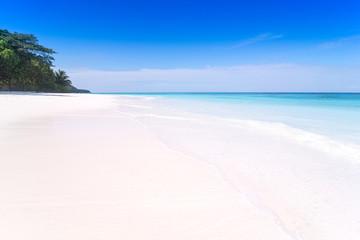 white sand and the blue sky beautiful island.Ta Chai Island,phuket,Phangnga,Thailand.