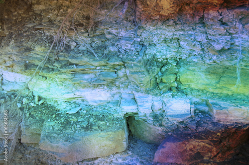 Grunge Background Texture Brown Clay Yellow Blue Rusty Dirty Dark Stone Textured Wall