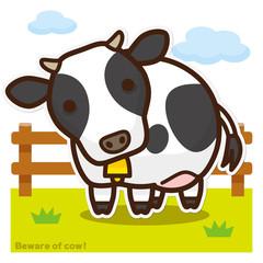 牛のいる牧場 ホルスタイン