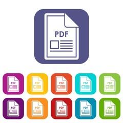 File PDF icons set