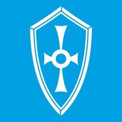 Shield icon white
