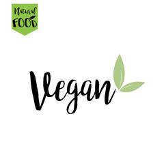 vegan, natural, bio food logo in vector