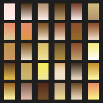 Set of skin gradient. Collection gradients for fashion and beauty design. Vector illustration