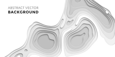 3D papercut layers, paper cut vector art background banner texture website template Wall mural