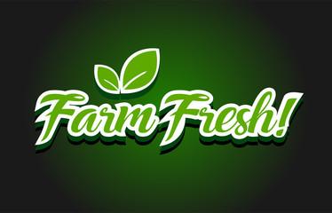 Farm fresh text logo icon design