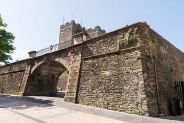 The walled city of Derry in Northern Ireland