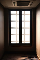 window at the end of corridor
