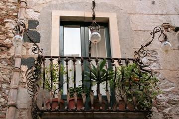 detail of houses in Taormina