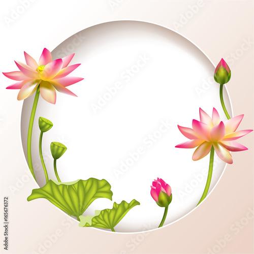 "Free Ppt Backgrounds Desktop Wallpaper Flower Pink Lotus: ""Pink Lotus. Beautiful Floral Background. Buddhism. Round"