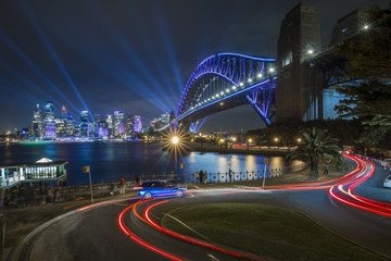 Canvas Prints Sydney sydney harbour bridge mil sons point kiribilli wharf