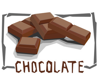 Vector simple illustration of chocolate bar.