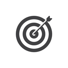 Target icon vector, filled flat sign, solid pictogram isolated on white. Goal symbol, logo illustration. Pixel perfect vector graphics