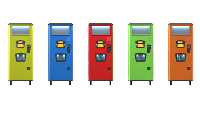 Colorfull Retro Style Soda Machine 3D-Illustration