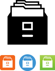 File Cabinet Drawer Icon - Illustration