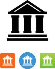 Financial Building Icon - Illustration