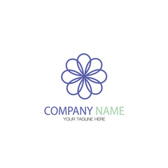 Abstract Flower Business Logo