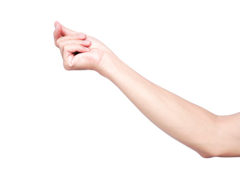 Hand snapping fingers isolate on white background with clipping path