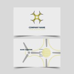 Drone Shop Business card design template.