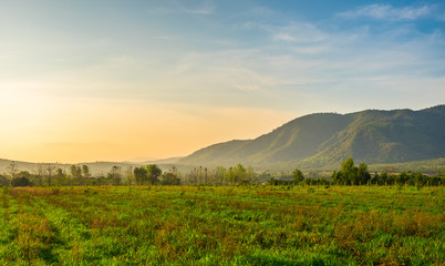 Morning Mountain view in Khao Yai National Park, Thailand