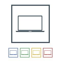 Laptop icon isolated on white background