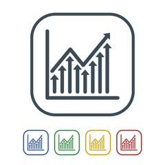 Picture Of Candlestick Graph With Icons People Flat Style Banner Stock Market Ysis Forex Trading