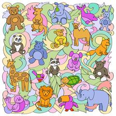 Animal Toys Pattern
