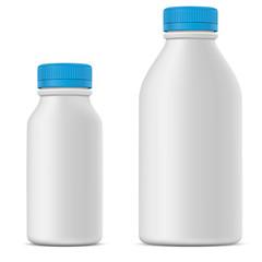 Blank milk or yoghurt white bottle
