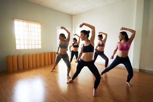 Pretty Women Enjoying Dance Class