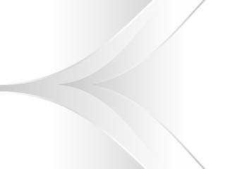 White and gray gradient abstract line and curve background