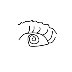 eye doodle vector line icon