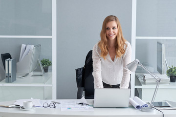 Smiling business lady