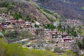 Danba, Ganzi Province, Sichuan Jiarong residential houses