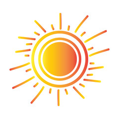 Isolated sun icon on a white background, Vector illustration