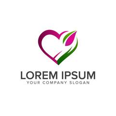 love green logo design concept template