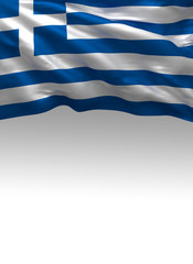 Greece, Greek Flag (3D Render)