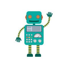 robot waving hand