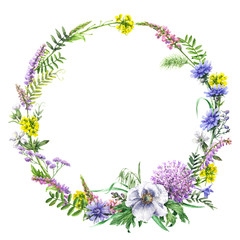 Summer Wildflowers Wreath
