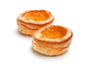 Yorkshire  puddings isolated on white background