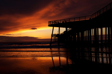 Sunset at Pismo beach (California)