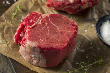 Wall Mural - Raw Organic Grass Fed Filet Mignon Steak
